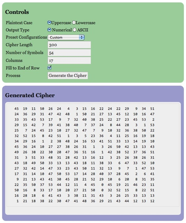 Create your own ciphers – Zodiac Killer Ciphers