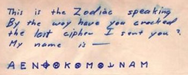 The 13 Character Cryptogram Mailed By Zodiac On April 20 1970 To San Francisco Chronicle Remains Unsolved Despite Many Attempts Find Solutions That
