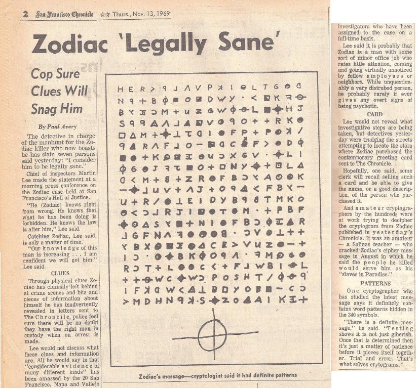 Zodiac Killer Poem